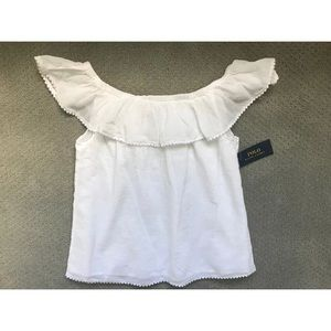 Ralph Lauren White Girl shirt sz 14